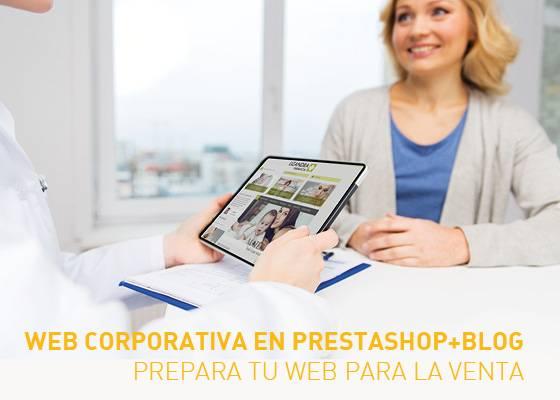 Web corporativa para farmacia en prestashop